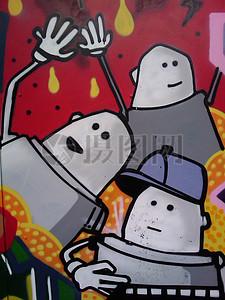 街头的涂鸦艺术图片