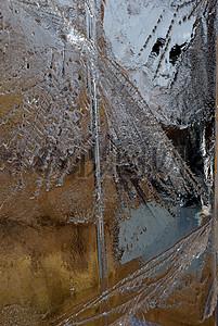 冬天的透明冰晶体图片
