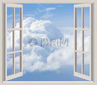 窗外的白云朵朵图片