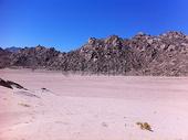蓝天下的沙漠图片