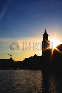 蓝天下的哥德堡图片