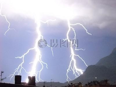 雷雨中的天空图片