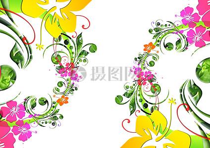 精美花卉设计背景素材图片