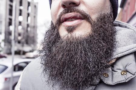 大胡子的男性图片
