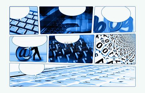 互联网网络书签图片