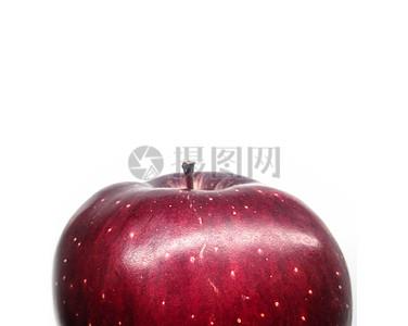 一颗红色的苹果特写图片