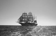 大海上的船只图片
