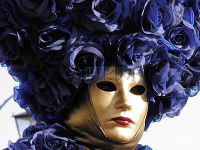 戴着抽象面具的小丑高清图片