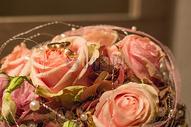 枚红色的玫瑰花束图片