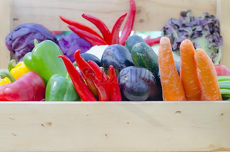 框子里的蔬菜图片