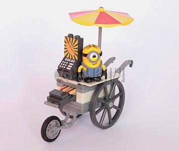 小车子上的小黄人图片