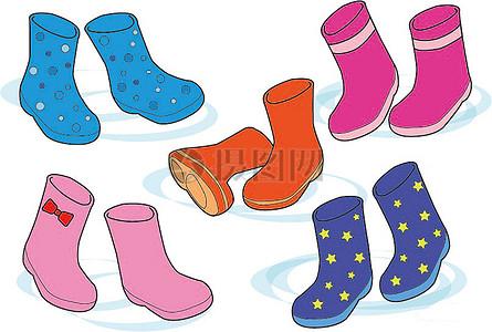 图纸上的雨靴图案图片