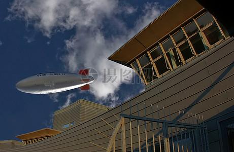 齐柏林的热空气船图片