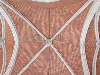 红色拱顶结构图案图片
