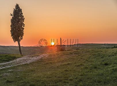 托斯卡纳美丽的夕阳图片