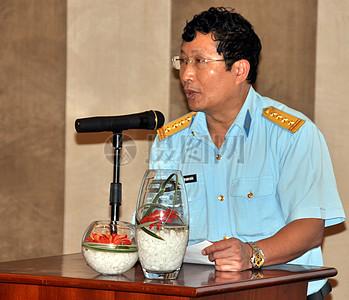 上校范亭简,科学,技术负责人,以及国家国防部的防空空军司令部的环境司,地址岘港利益相关方会议图片