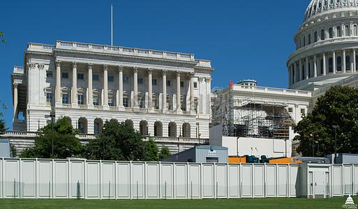 国会大厦圆顶恢复 - 脚手架下班早2014年6月图片