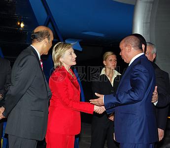 克林顿国务卿抵达洪都拉斯图片