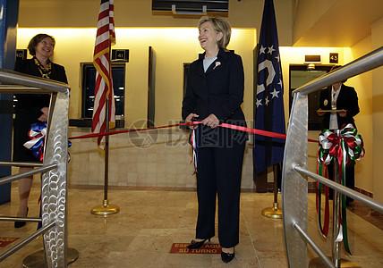 克林顿国务卿在美国大使馆在墨西哥城图片