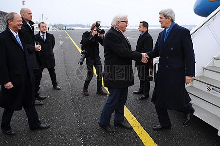 秘书克里抵达柏林,德国图片