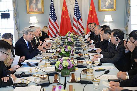 秘书克里和卢,中国国务委员杨,王中国国务院副总理参加有关能源安全的联合会议图片