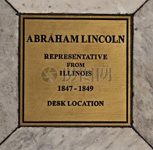 林肯总统办公桌位置标记图片