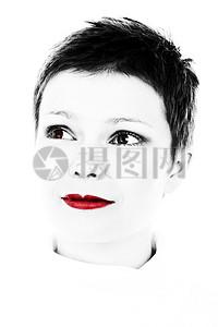 红色的唇膏肖像图片