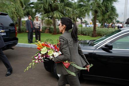 幕后:准备希拉里国务卿访问印尼图片