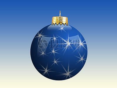 蓝色圣诞装饰图片