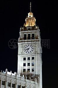 夜晚的钟楼图片