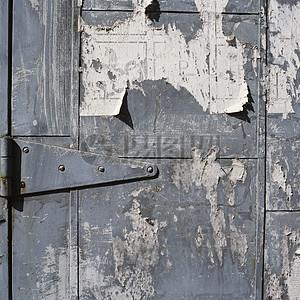 斑驳的大铁门图片