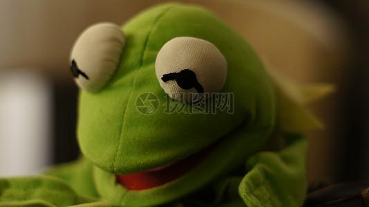 手工制作的青蛙玩偶高清图片