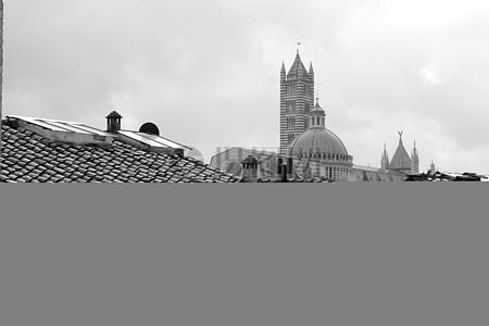 瓦屋顶的房子在城市图片