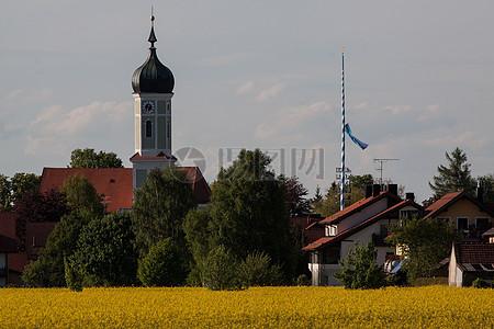 城镇圆顶建筑图片