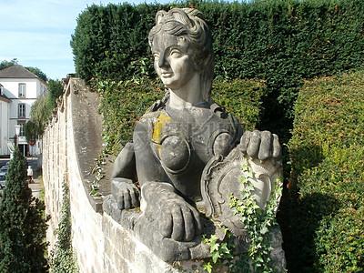 雕塑狮身人面像城堡花园图片