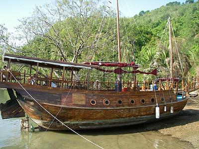 船艇木图片