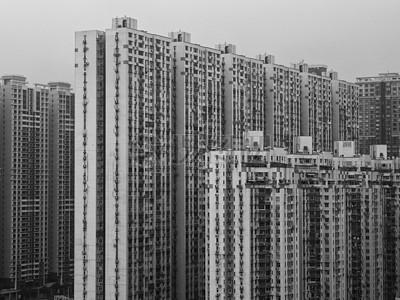 单色的高楼建设图片