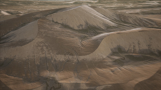 日落时红色沙丘的空中日落时的红色沙丘图片