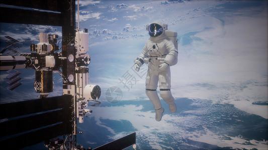 国际站太空宇航员地球上空这张照片的元素由美国宇航局提供国际站太空宇航员地球上的外层图片