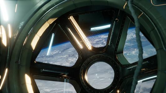 行星地球附近运行的国际站的驾驶舱视图这张图片的元素由美国宇航局提供驾驶舱视图国际站运行附近的行星地球图片