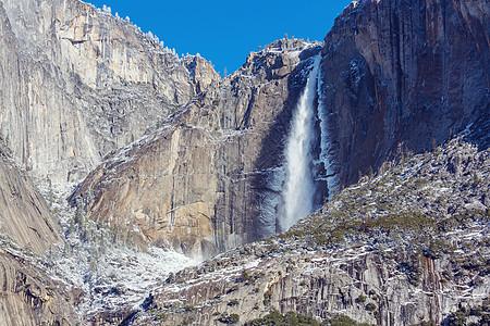 加州约塞米蒂国家公园的瀑布图片