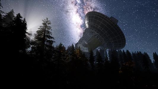 夜空恒星下的天文台超脱图片