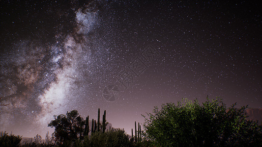 美国犹他州沙漠上方的银河图片