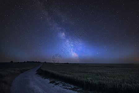令人惊叹的充满活力的银河复合图像斯泰宁碗的景观南下图片