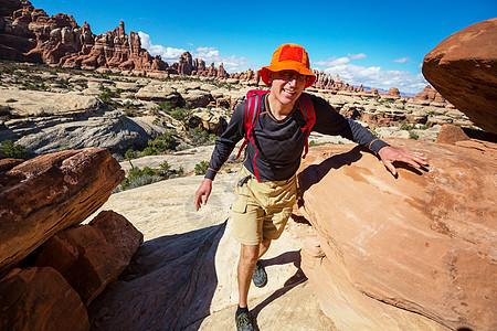 犹他州山区徒步旅行图片