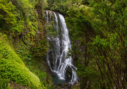 南美洲智利美丽的瀑布图片