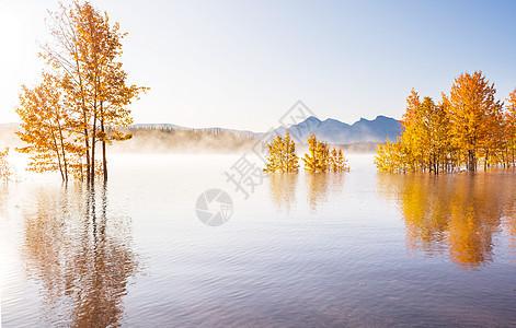 秋天的美丽湖泊图片