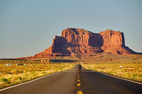 美国亚利桑那州丰碑谷的空景公路图片