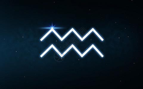 占星术占星术水瓶星座的十生肖黑暗的夜空恒星背景水瓶座的星座夜空星星上图片