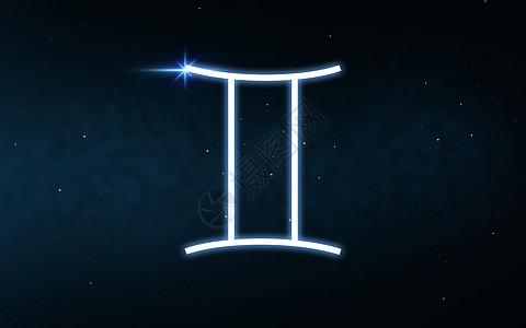占星术占星术黑暗的夜空恒星背景上的十生肖双子星座双子星座的十生肖夜空星星上图片
